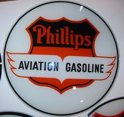 Phillips Aviation Gas Globe