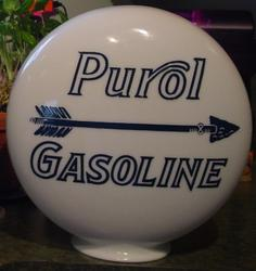 Purol One Piece Etched Gas Globe
