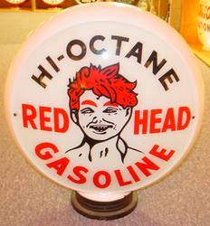 Rare Red Head Gas Globe