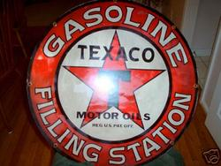 Phony Texaco Filling Station Sign