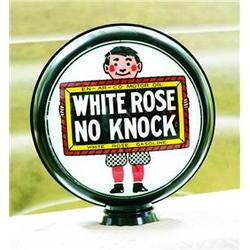 White Rose No Knock Repro Gas Globe