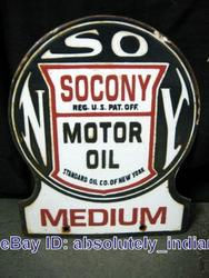 Phony Socony Porcelain Sign