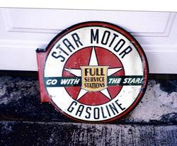 Repro Star Gasoline Service Sign