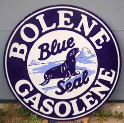 Rare Bolene Porcelain Sign 30""