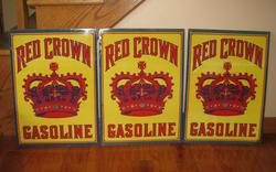 Rare Red Crown Signs Over 100 Years Old!!!