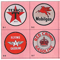 Red Crown, Flying A, Texaco, Mobil fantasy signs
