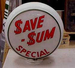 Rare Save-Sum Gas Globe