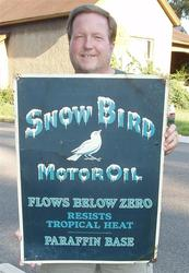 Rare Snow Bird Sign