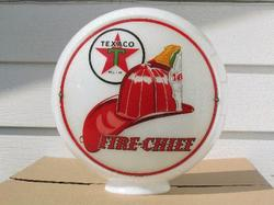 Rare Fire Hat Gas Globe
