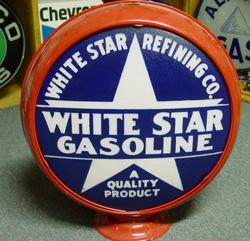 White Star Gasoline globe