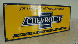 Phony Chevy Porcelain Sign