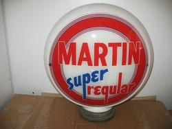 Rare Martin Super Regular Gas Globe