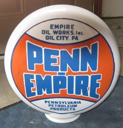 Rare Penn Empire Gas Globe